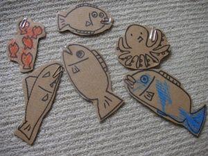 手作り魚釣り遊びおもちゃ