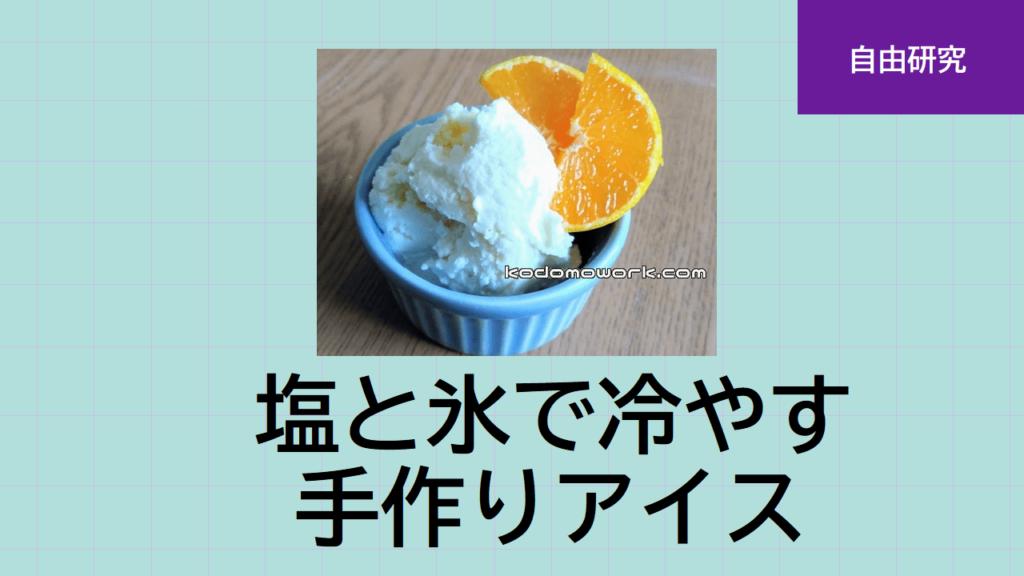 夏休み自由研究手作りアイス