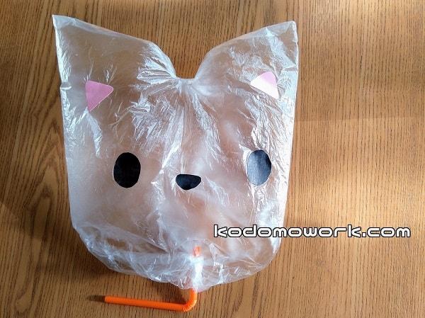 ビニール袋工作かわいい猫