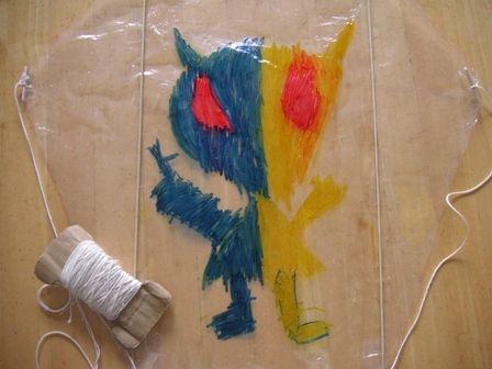 手作りビニール凧の簡単な作り方