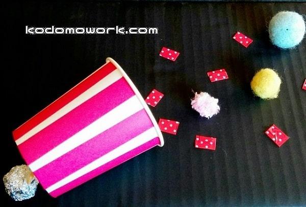 紙コップクラッカーは子供会やクリスマス会で人気