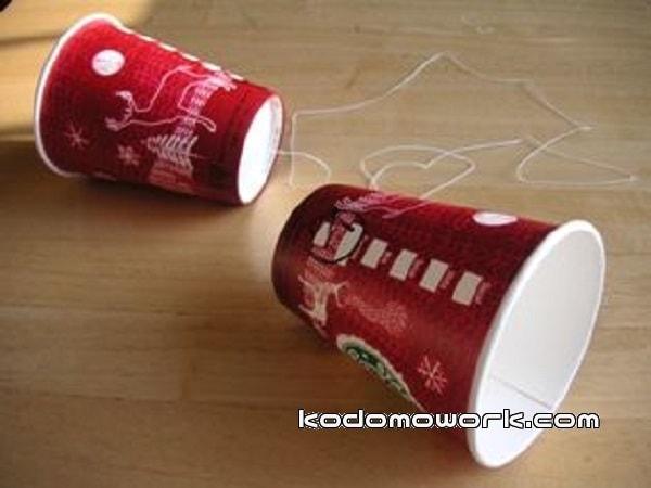 糸電話の作り方はシンプルで簡単