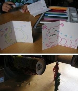 空気砲のまとは紙で作ればすぐ遊べる