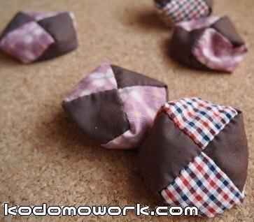 座布団型お手玉の作り方