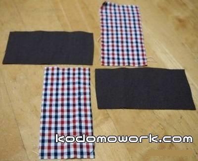 お手玉の材料は4枚の布