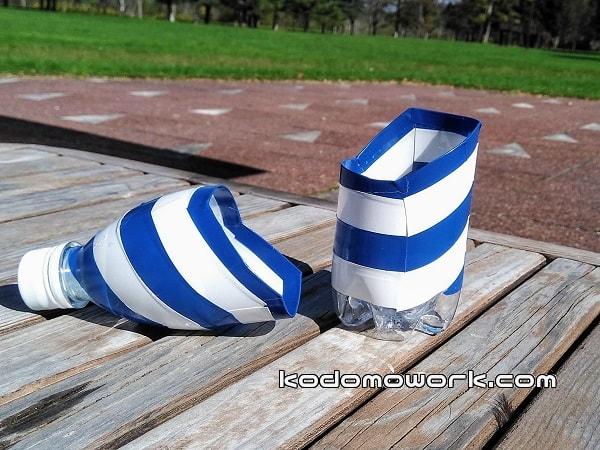 シャベル型のペットボトル水遊びおもちゃ