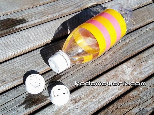 水遊び手作りおもちゃなら水鉄砲の穴の数も自由に設定できる