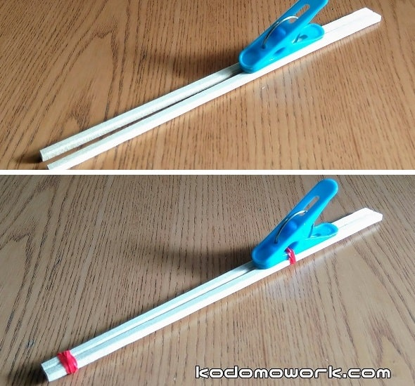 割り箸鉄砲は洗濯ばさみを使えば簡単に作れる