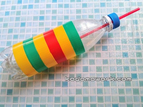 ペットボトル水鉄砲作り方