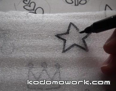 星の手作りスタンプ